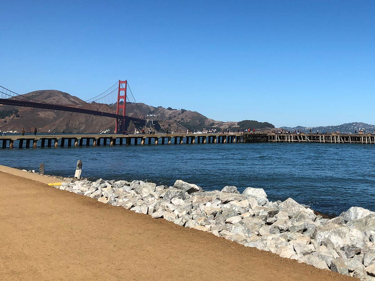 Passeio até a Golden Gate a pé