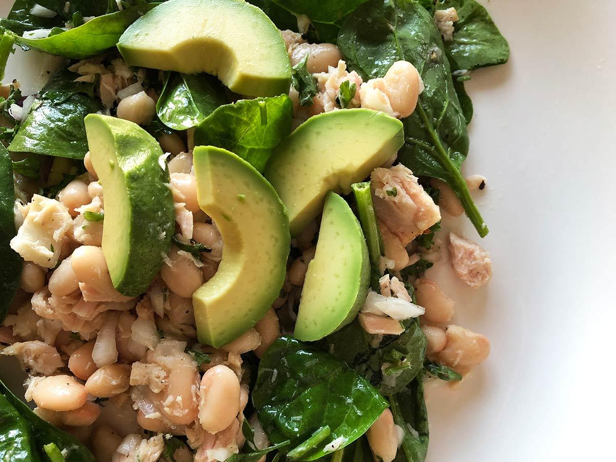 Marmita fria: salada de atum com feijão branco